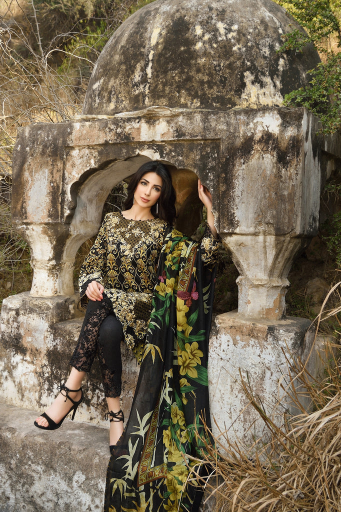 Rungrez Spring/Summer Lawn Collection 2016 – Majestic Treasure - YourLibaas  - 1