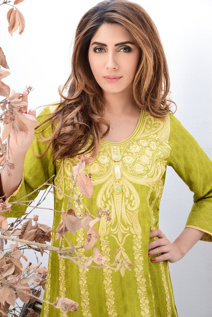 Mahwish & Farishtay Silk Cotton Net Tunics - MF07 - YourLibaas  - 1