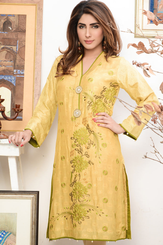 Mahwish & Farishtay Silk Cotton Net Tunics - MF10 - YourLibaas  - 1