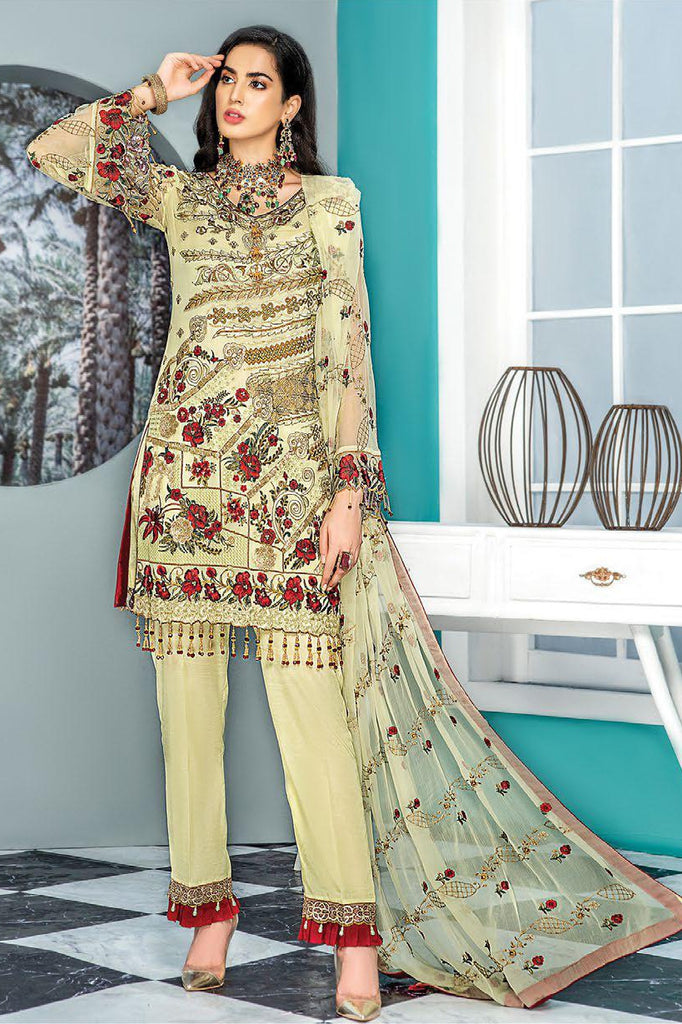 Maryam's Gold Luxury Embroidered Chiffon Collection Vol 7 – MG-82