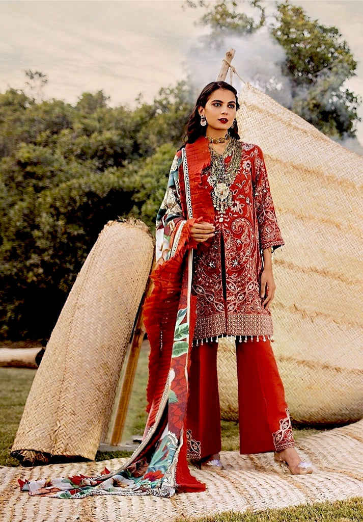Maya by Nureh Embroidered Khaddar Winter Collection (with Shawl) – DASTAAN NW 02