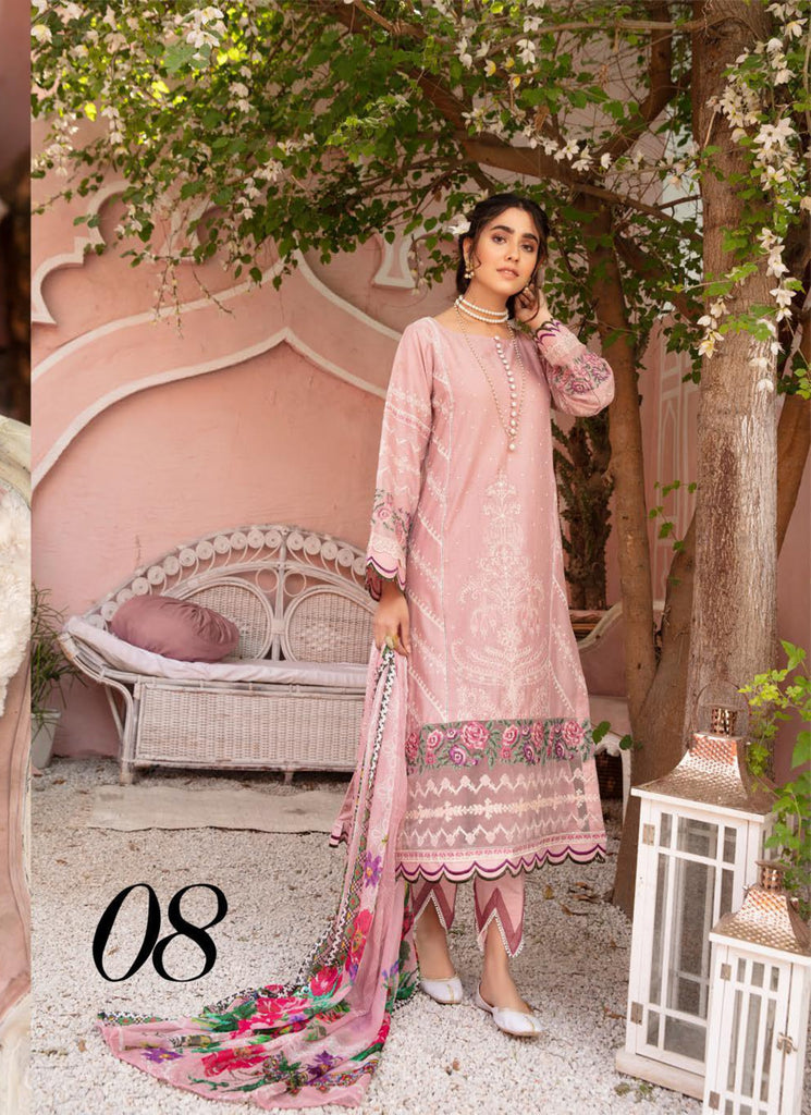 Mina by Riaz Arts Signature Embroidered Lawn Collection Vol-2 – MI-08
