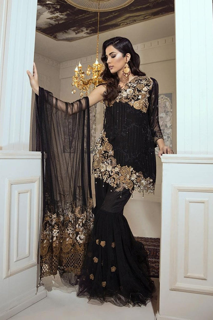 Eshaal Luxury Embroidered Chiffon Collection Vol-4 by Emaan Adeel – Gold Rouge