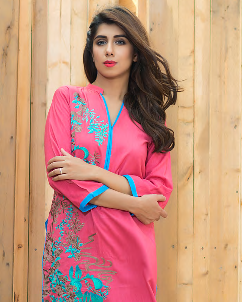 Charizma Plush Embroidered Kurti Fall/Winter Vol 1 – PK10 - YourLibaas  - 1