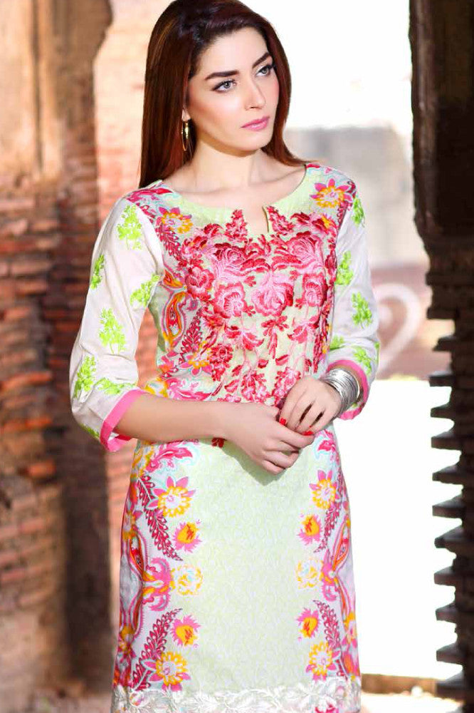 Charizma Embroidered Plush Kurtis Vol 2 – PK-61 - YourLibaas  - 1