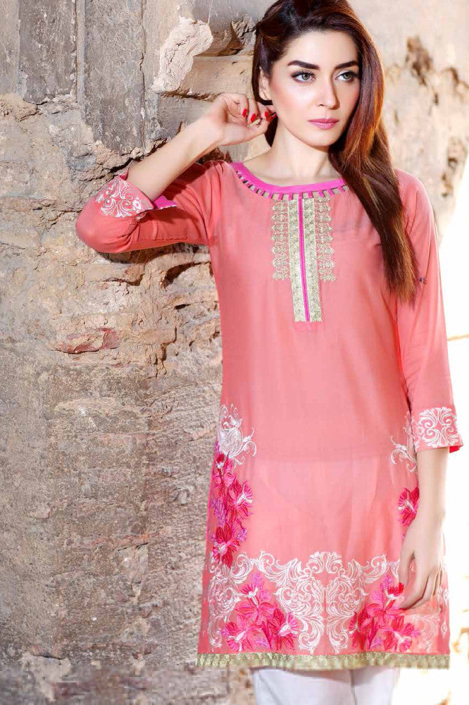 Charizma Embroidered Plush Kurtis Vol 2 – PK-66 - YourLibaas  - 1