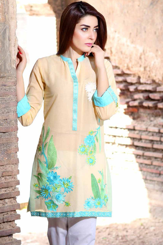 Charizma Embroidered Plush Kurtis Vol 2 – PK-68 - YourLibaas  - 1