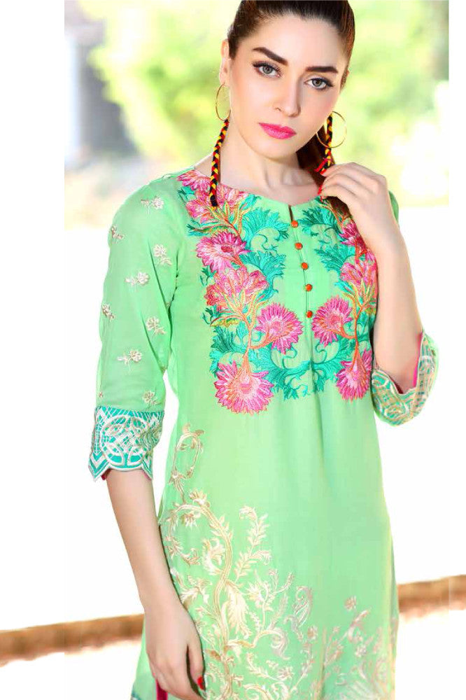 Charizma Embroidered Plush Kurtis Vol 2 – PK-70 - YourLibaas  - 1