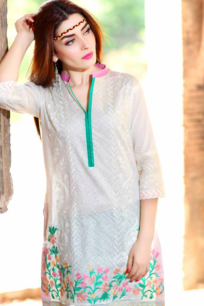 Charizma Embroidered Plush Kurtis Vol 2 – PK-71 - YourLibaas  - 1