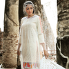 Gul Ahmed Summer 2017 - Off White 3 PC Premium Embroidered Chiffon Dress PM-159