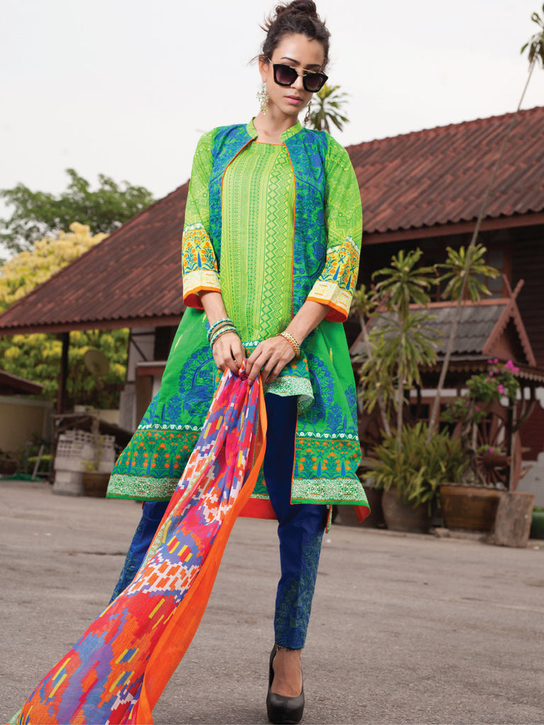 Rehaab Lawn Collection '16 – Flying Parrot RJ-160047 - YourLibaas  - 1