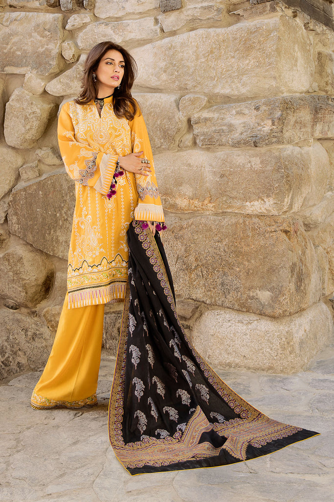 Saira Rizwan X Ittehad Winter Collection – Sarin - SR-3