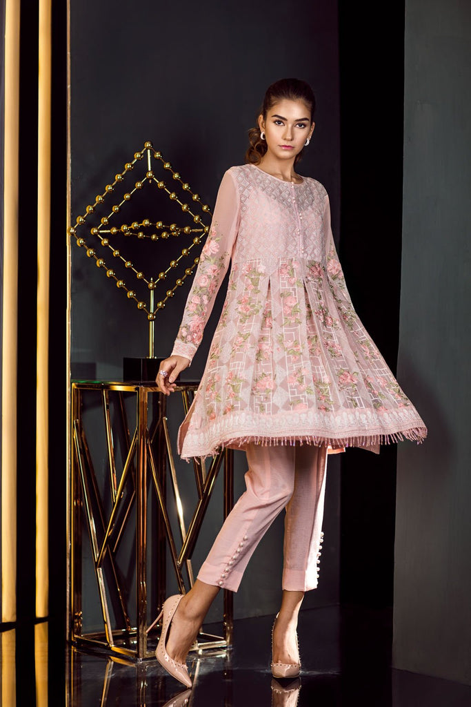 Baroque Fuchsia Chiffon Collection Vol-3 – Pastel Pink