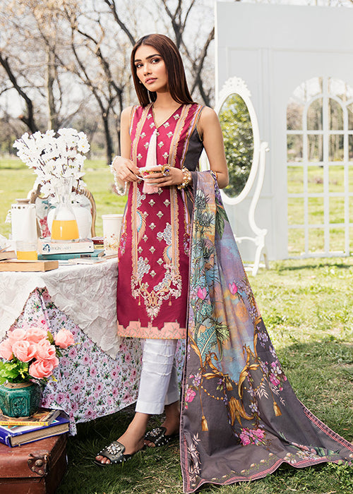 Qalamkar Qline Lawn Collection – QL-05A