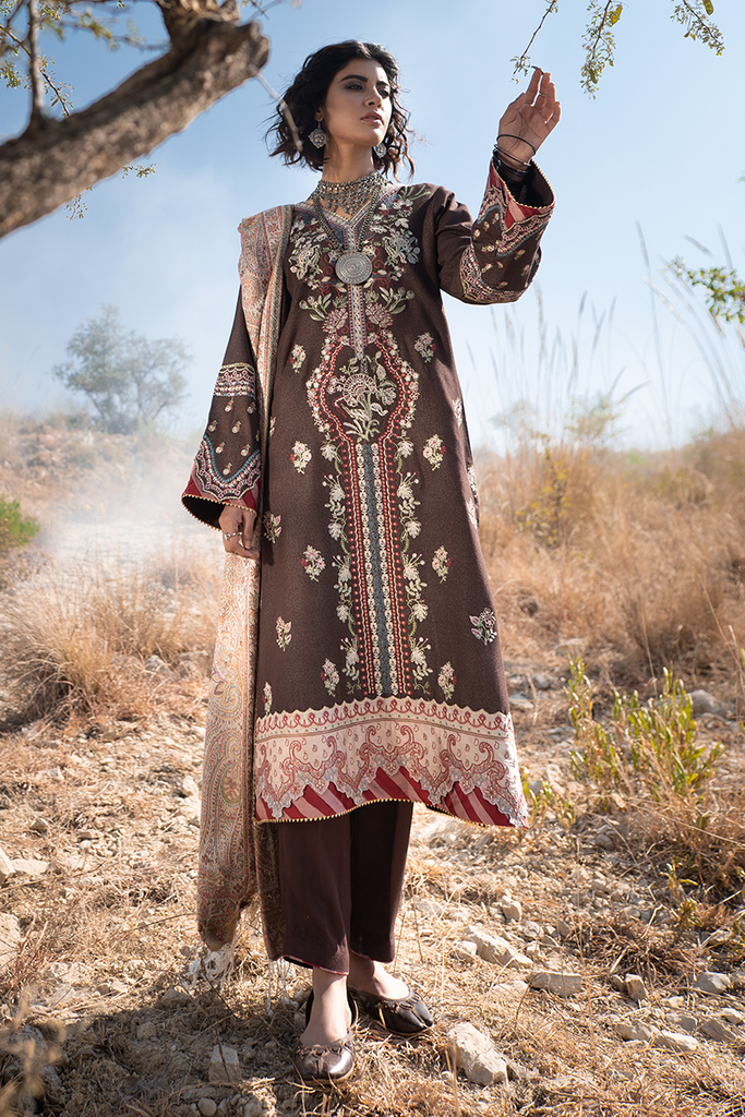 Qalamkar Luxury Winter Collection (with Shawl) 2020 – KS-04