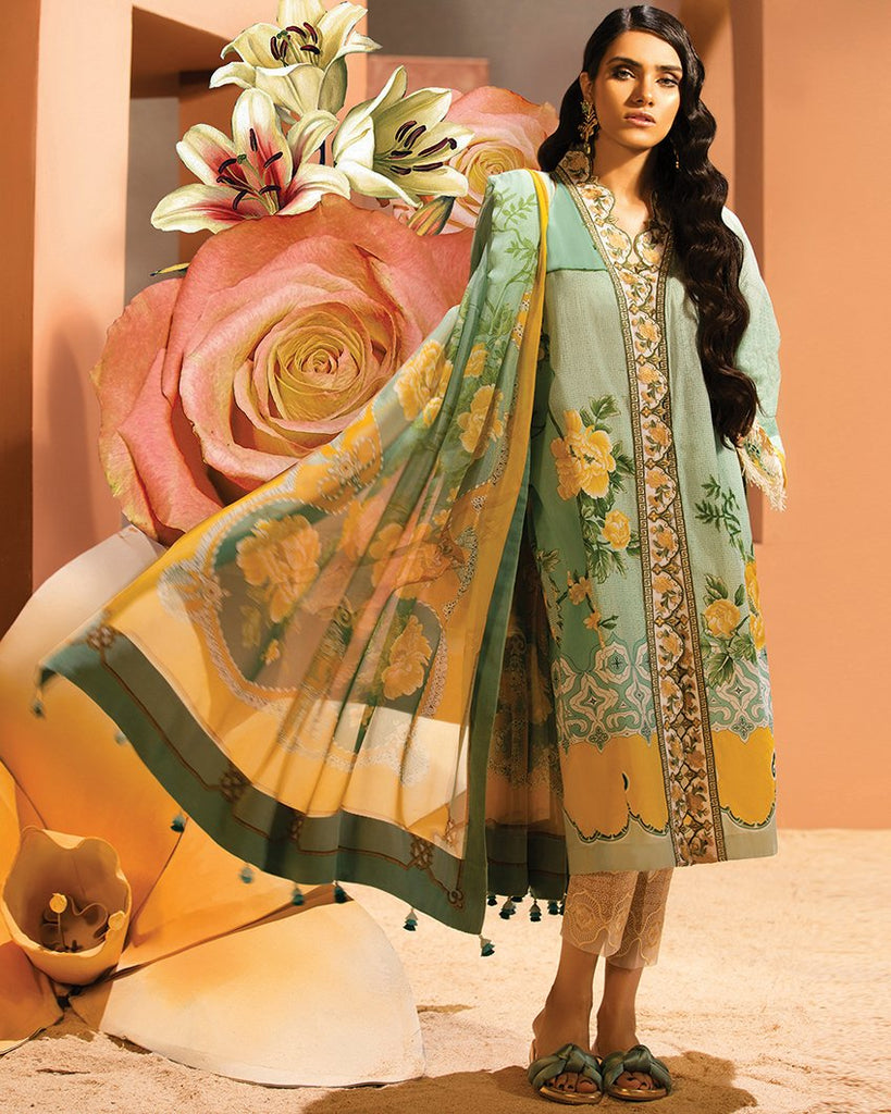Zaha by Khadijah Shah – 3pc Lawn Collection – Reina (ZL-14B)