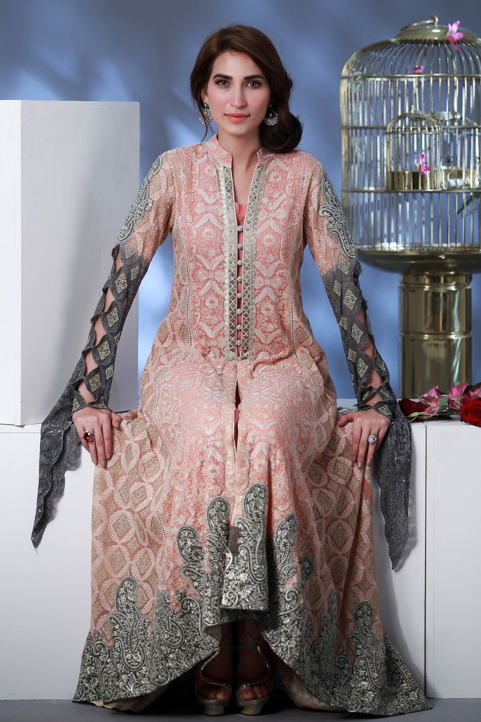 Rozina Munib Premium Embroidered Chiffon Collection - 1A - YourLibaas  - 1