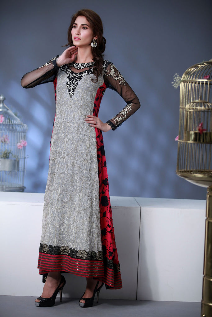 Rozina Munib Premium Embroidered Chiffon Collection - 2B - YourLibaas  - 1
