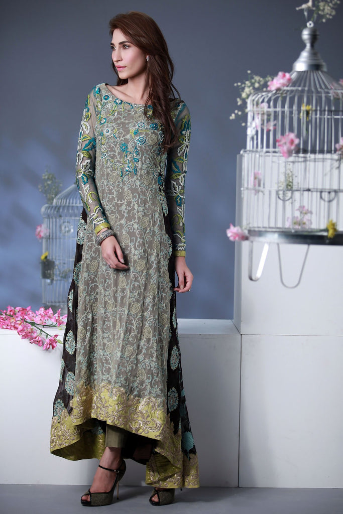 Rozina Munib Premium Embroidered Chiffon Collection - 3A - YourLibaas  - 1