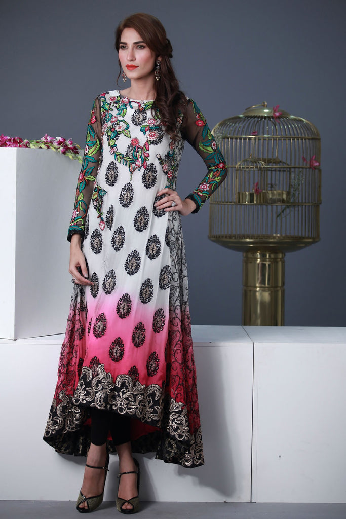 Rozina Munib Premium Embroidered Chiffon Collection - 3B - YourLibaas  - 1