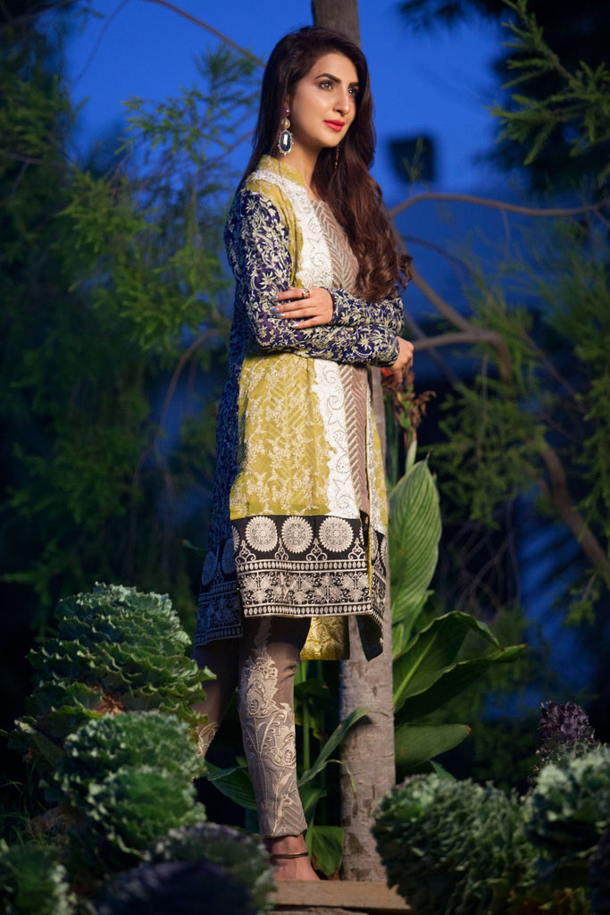 Rozina Munib Premium Embroidered Chiffon Collection - 4A - YourLibaas  - 1
