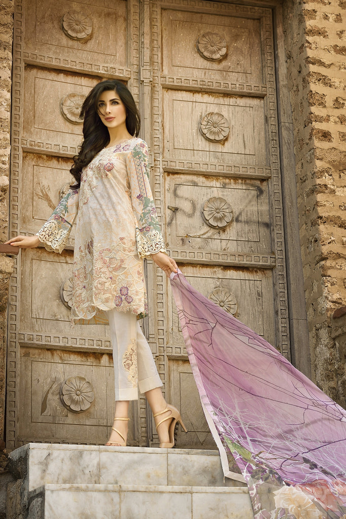 Rungrez Spring/Summer Lawn Collection 2016 – Shattered Glass - YourLibaas  - 1