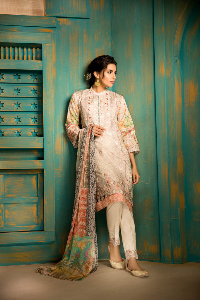 Sapphire Naqsh Dar Lawn Eid Collection Vol-V – Sheer Luxury