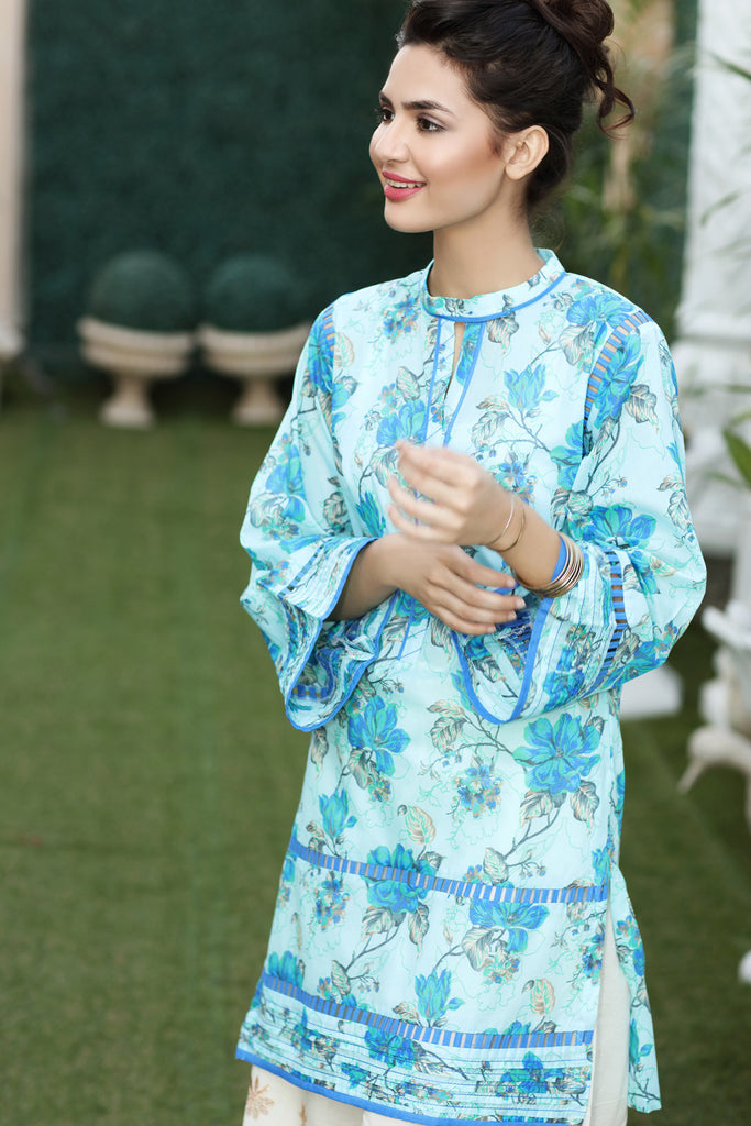 Gul Ahmed Summer 2017 - Blue 1 PC Printed Lawn Single SL-326 A