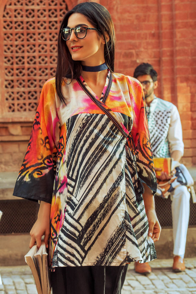 Gul Ahmed YOLO Collection - Off White 1 Pc Digital Print Shirt SL-382
