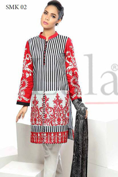 Sana & Samia Cotton Embroidered Kurti with Stole - 02 - YourLibaas  - 1