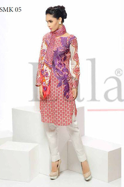 Sana & Samia Cotton Embroidered Kurti with Stole - 05 - YourLibaas  - 1