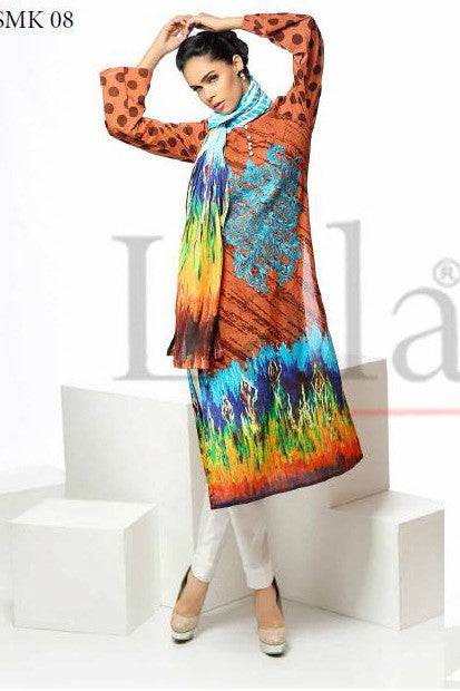 Sana & Samia Cotton Embroidered Kurti with Stole - 08 - YourLibaas  - 1