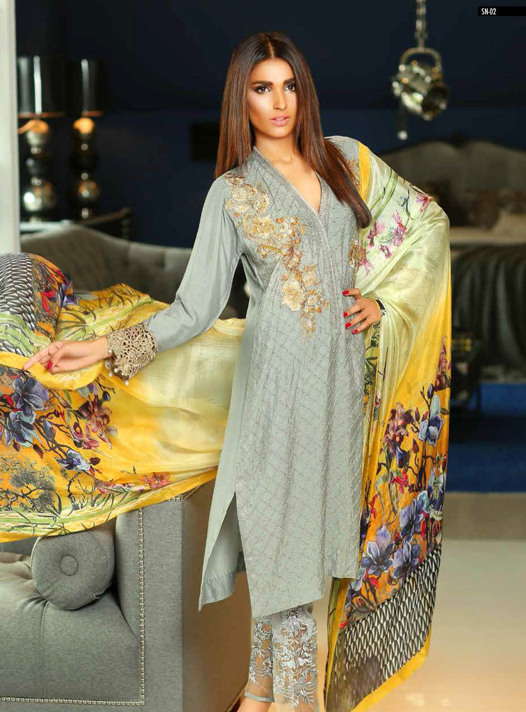 Sobia Nazir Silk Collection - SN02 - YourLibaas  - 1