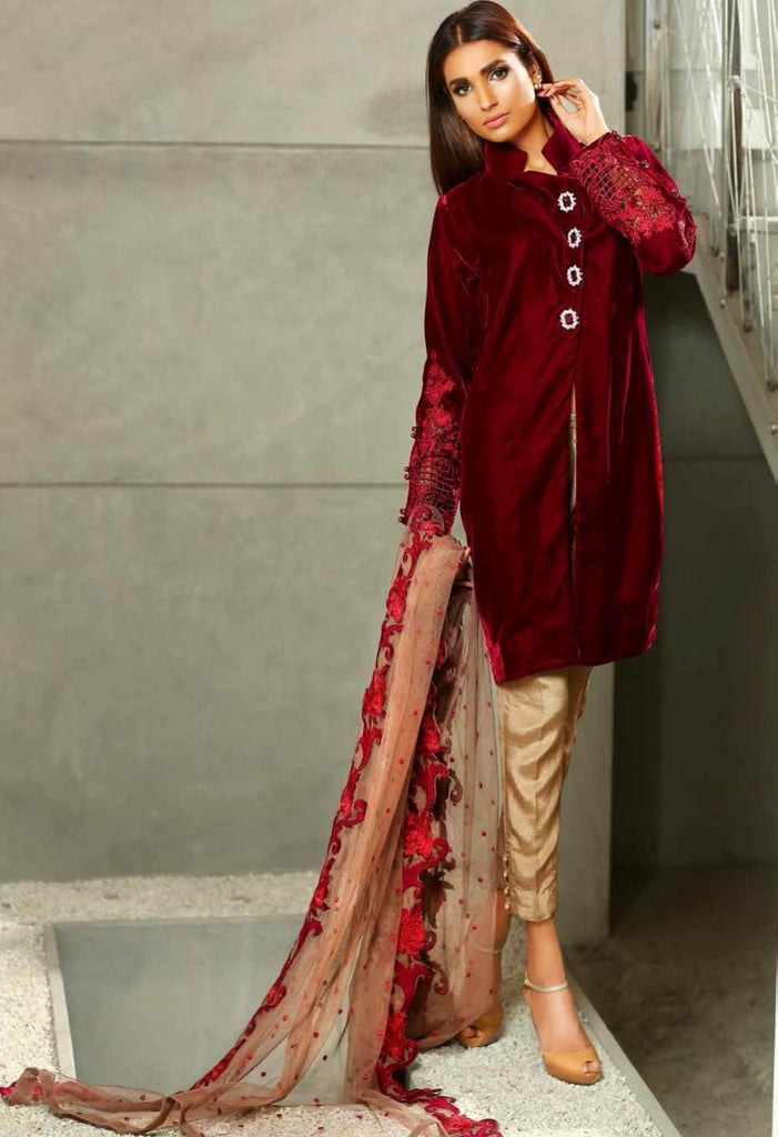 Sobia Nazir Silk Collection - SN10 - YourLibaas  - 1