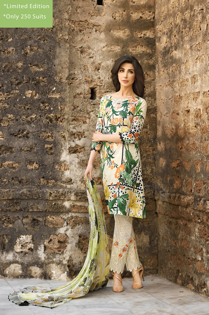 Rungrez Spring/Summer Lawn Collection 2016 – Sultry Wilderness - YourLibaas  - 1