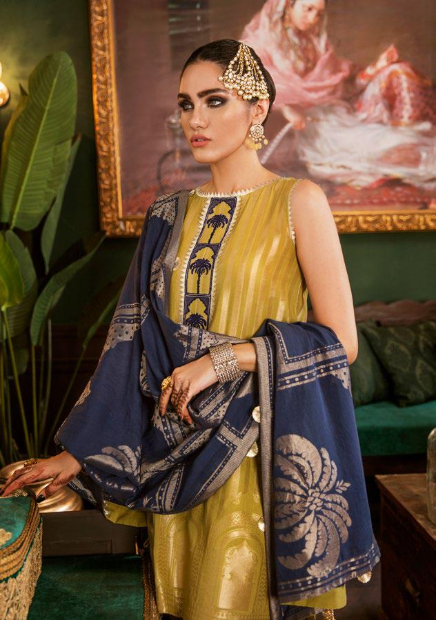Cross Stitch Royal Secrets Jaquard Collection 2019 – Taaq E Rawan B