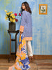 Gul Ahmed Summer 2017 - Blue 2 PC Embroidered Lawn Dress TL-73 A