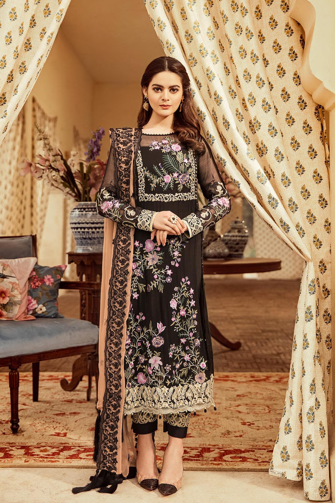 Imrozia Embroidered Chiffon Nostalgic Climax Collection 2019 – 05 - The Caramel Coco