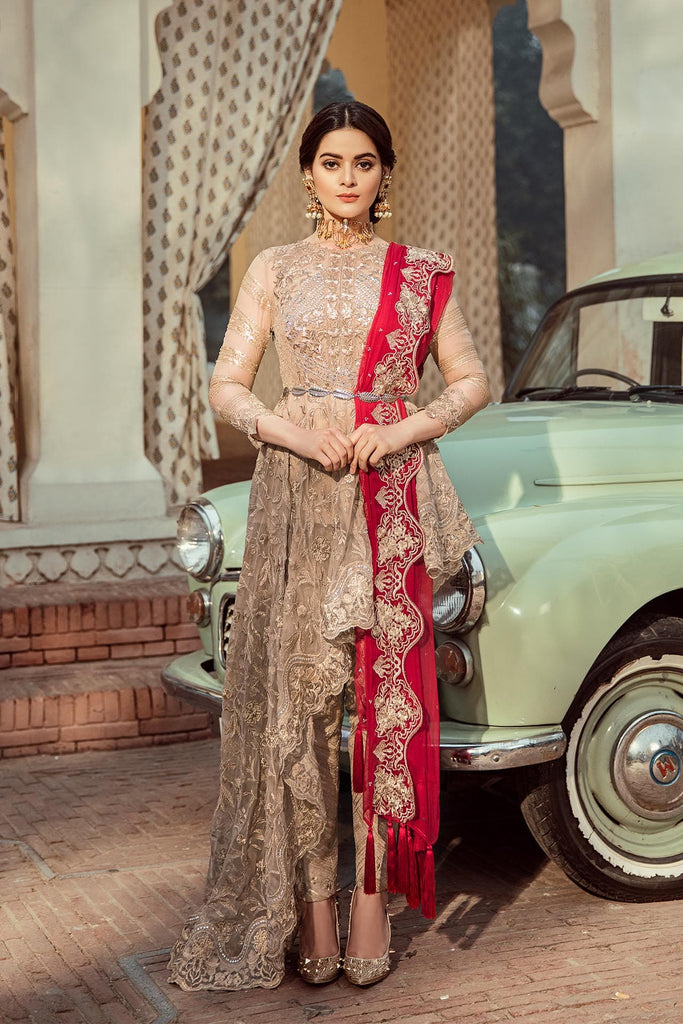 Imrozia Embroidered Chiffon Nostalgic Climax Collection 2019 – 10 - The Gold Splendour