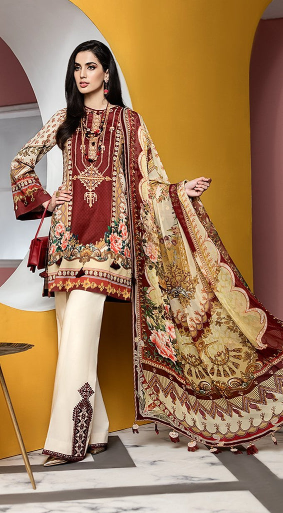 Anaya by Kiran Chaudhry – Viva Lawn Collection 2020 – 09B - CARMEN