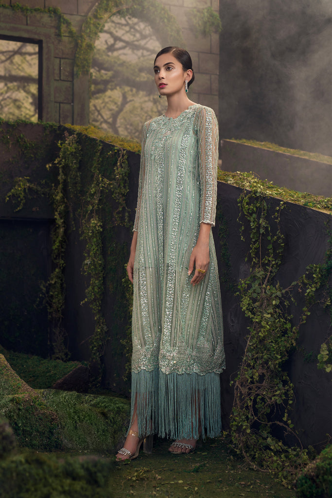 Qalamkar Forêt de Luxe Wedding Collection 2018 – Vert Tropico QW-08