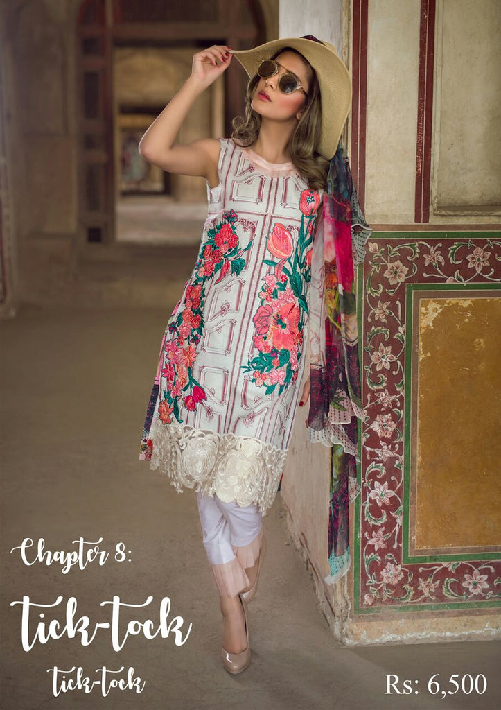 Asifa & Nabeel Spring/Summer Tourist Lawn 2018 – Chapter: 8 – Tick Tock