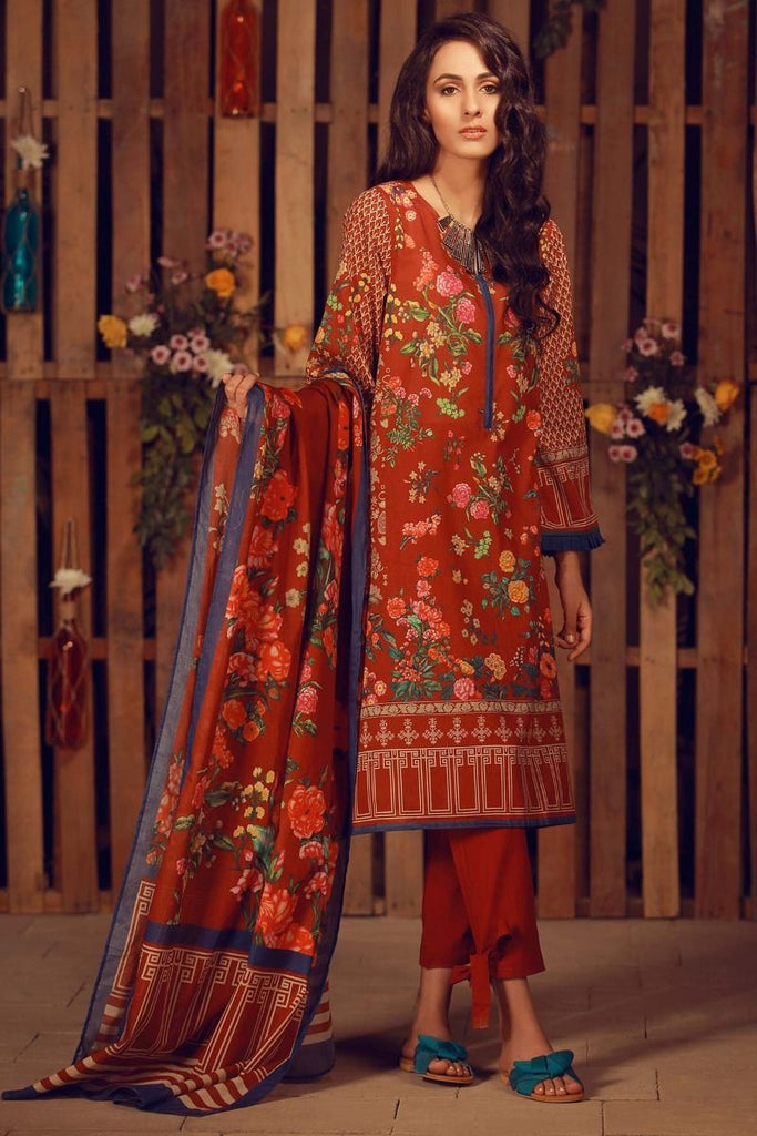 Khaadi Summer Lawn Collection 2018 Vol-2 – A18203 Maroon