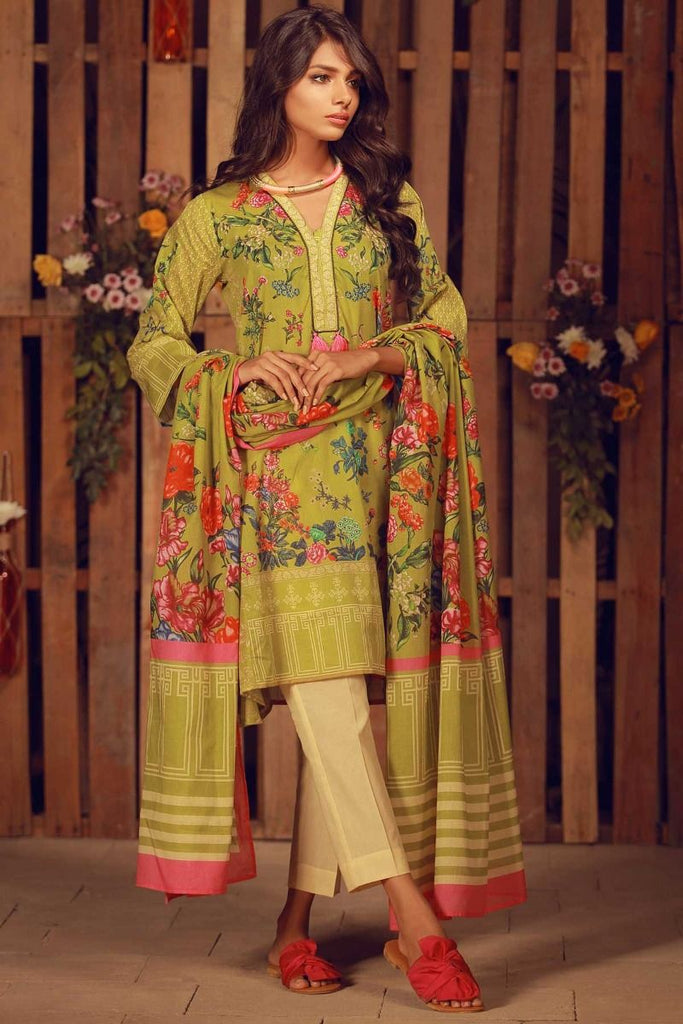 Khaadi Summer Lawn Collection 2018 Vol-2 – A18203 Green