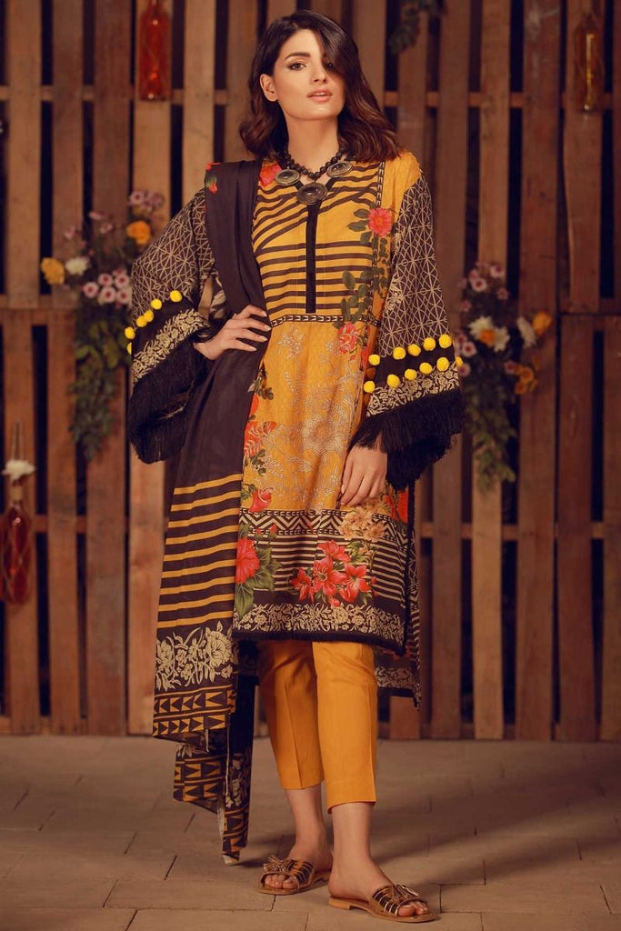 Khaadi Summer Lawn Collection 2018 Vol-2 – A18204 Yellow