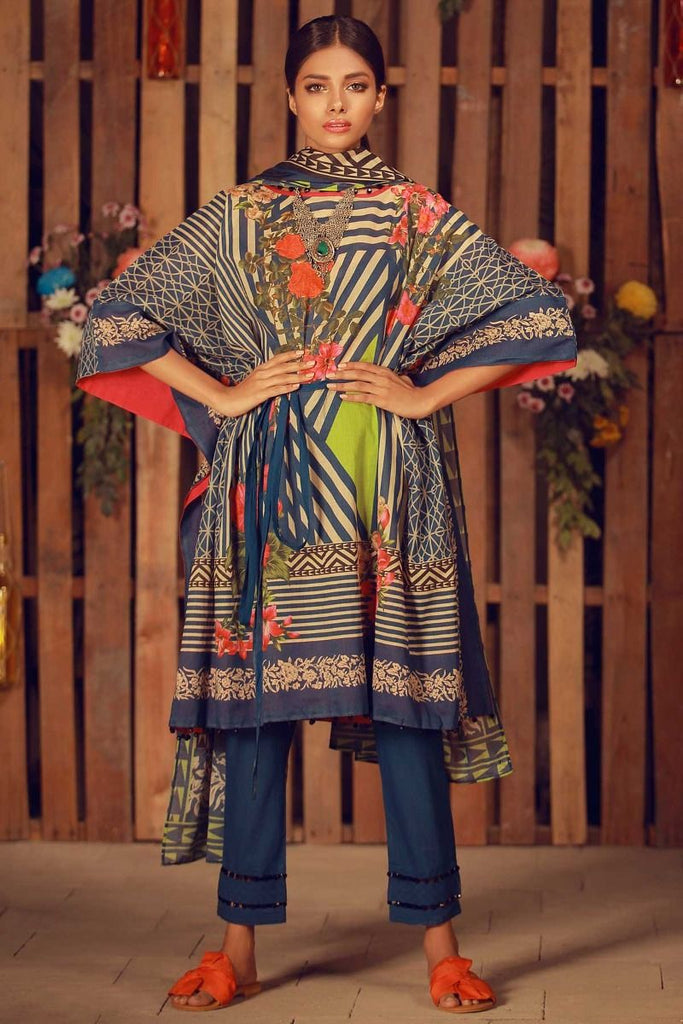 Khaadi Summer Lawn Collection 2018 Vol-2 – A18204 Blue