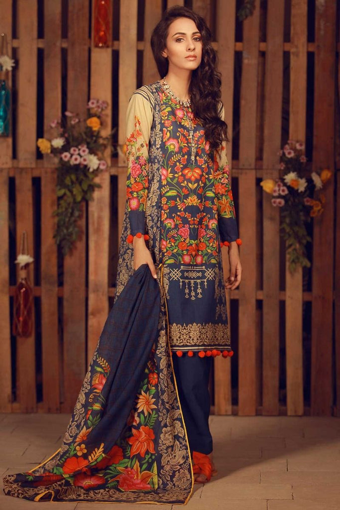 Khaadi Summer Lawn Collection 2018 Vol-2 – A18206 Blue