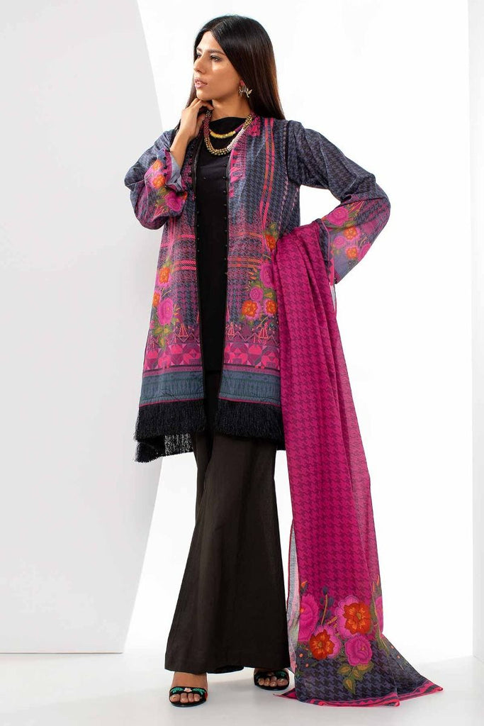 Khaadi Mid Summer Lawn Collection 2018 – A18305 Black 3Pc