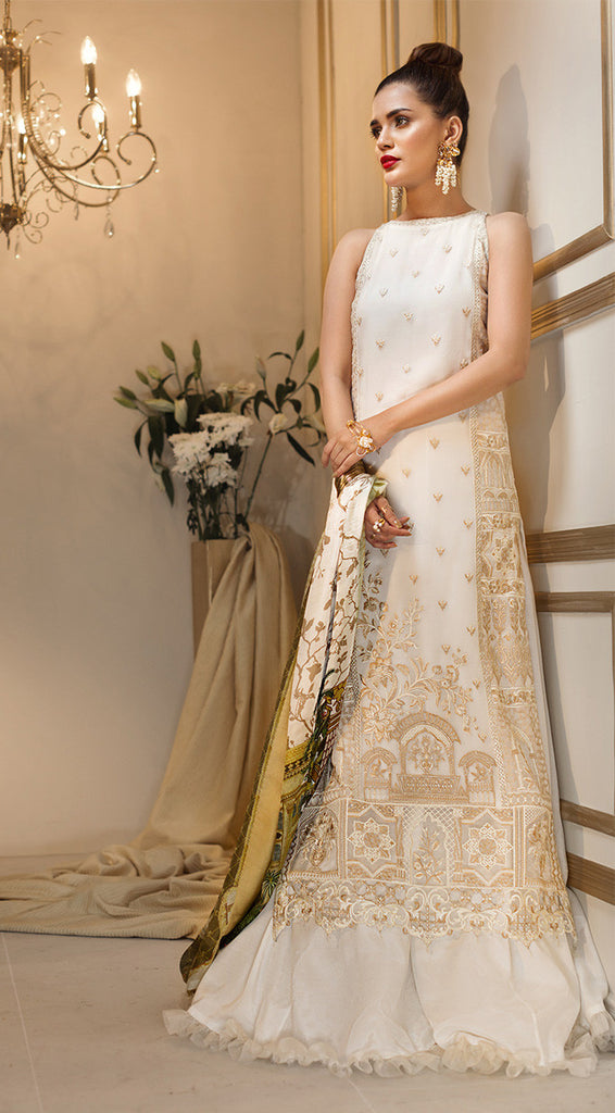 Anaya by Kiran Chaudhry Luxury Festive Collection 2018 – White Fantasy ALF-02