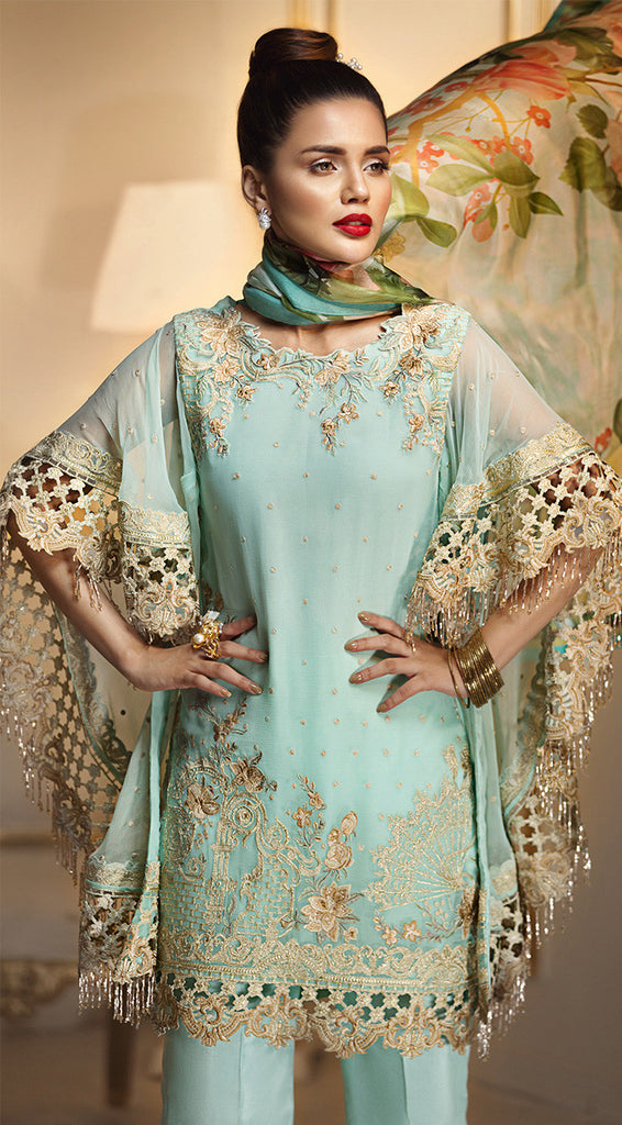 Anaya by Kiran Chaudhry Luxury Festive Collection 2018 – Aqua Fanfare ALF-03